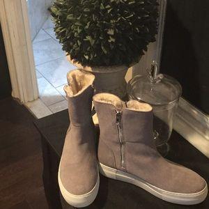 Steve Madden fur lined shoe boots